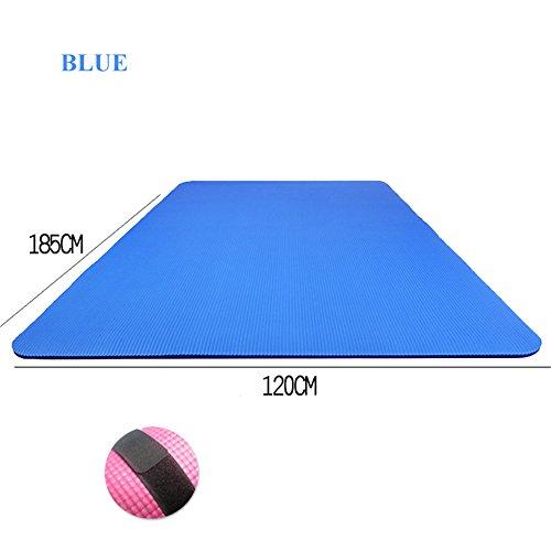 MIYOUDA 15 mm NBR Doppio Antiscivolo Tappetino Yoga Pilates Esercizio Tappetino da Esterni Blu