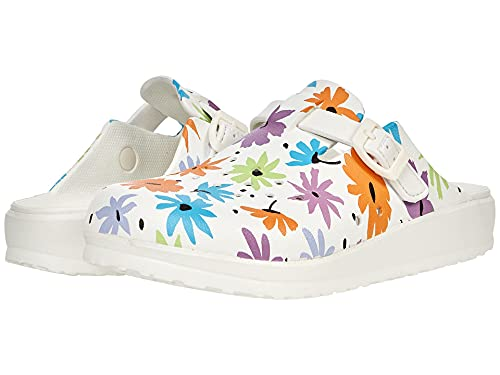 Skechers Cali Breeze 2.0-Utopia, Zoccoli Donna, Bianco Multicolore, 39 EU