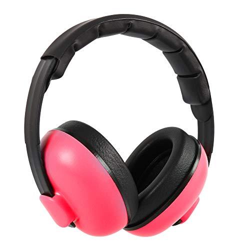 Flowerssea Ohrenschützer für Kleinkinder, Kinder, Babys, schwimmfähig, verstellbarer Kopfbügel, komfortabler Gehörschutz, Geräuschunterdrückung, 25 dB, höchste NRR Sicherheit (Alter 0–3 Jahre), rosa