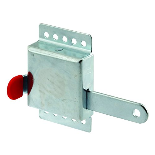 PRIME-LINE GD 52118 Inside Deadlock – Heavy Duty Galvanized Housing, Fits Most Garage Doors for Extra Protection as a Security Lock-7/8 x 1/8