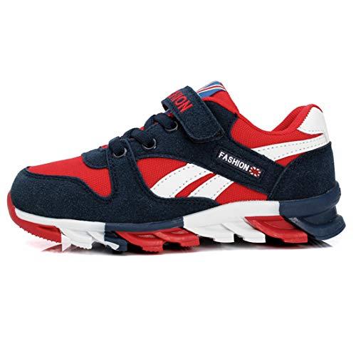 Powtech Turnschuhe Kinder Sneaker Jungen Sportschuhe Mädchen Hallenschuhe Outdoor Laufschuhe Für Unisex-Kinder (EU29=CN30, 819-Dunkelblau)
