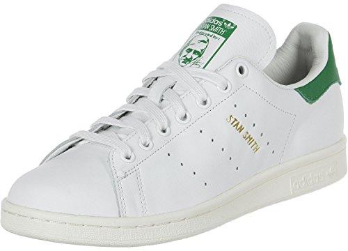 adidas Stan Smith, Scarpe da Ginnastica Basse Unisex-Adulto, Bianco (Footwear White/Green), 46 2/3 EU