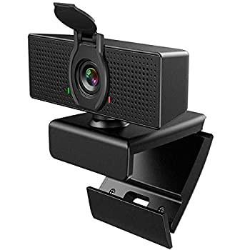 Webcam with Microphone 1080P HD Webcam & Privacy Cover USB Plug and Play Laptop PC Desktop Web Camera 110-Degree View Angle Computer Camera for Video Calling Recording Conferencing