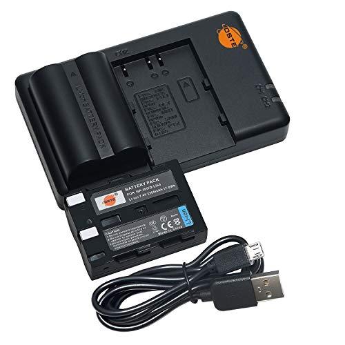 DSTE 2PCS D-LI50(2300mAh/7.4V) Batería Cargador Compatible para Pentax K10D Grand Prix,K20D Konica...