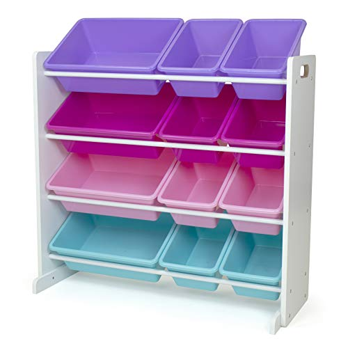 Humble Crew Toy Storage Organizer, White/Pink/Purple/Turquoise