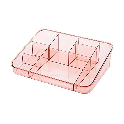 Ofgcfbvxd Maquillage cosmétique Organisateur de Stockage Maquillage Plastique Organisateur de Bureau cosmétiques Affichage Titulaire Cas boîte de Rangement (Couleur : Rose, Taille : Taille Unique)
