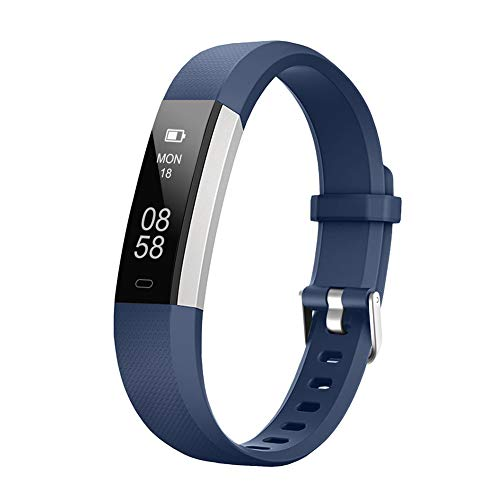 LETSCOM Fitness Tracker with Heart Rate Monitor, Slim Sports Activity Tracker Watch, Waterproof Pedometer Watch with Sleep Monitor, Step Tracker for Women, and Men