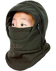 TRIWONDER Pasamontañas Sombrero Máscara de esquí Clima Frío Mascarilla Cuello Calentador de Nariz de Invierno para Niños