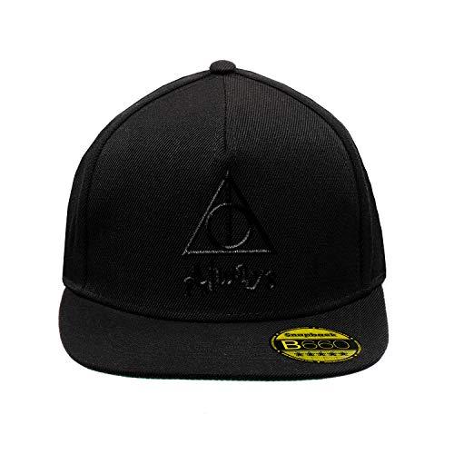 BroiderStudio Always Triangle HP Black Schwarz Hut Flacher Gipfel Verstellbar Snapback Unisex Original Bestickte Urban Logo Mütze