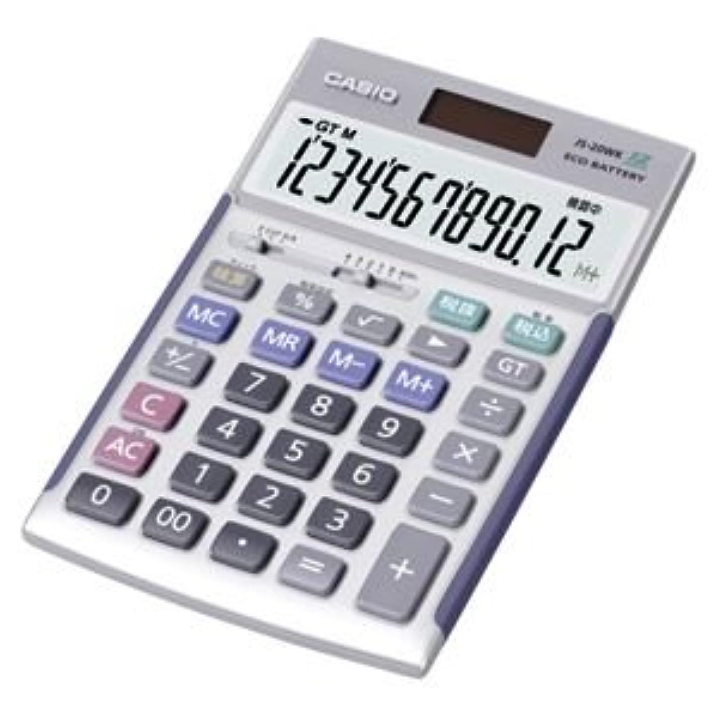 伝染病資本主義締め切りカシオ(CASIO) 電卓 12桁 JS-20WK 1台