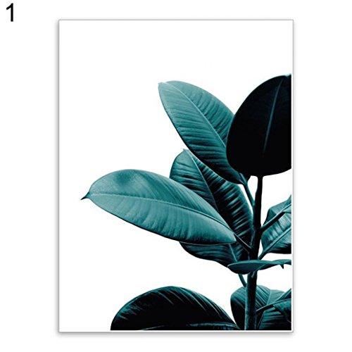 Uniqueaur Kunstdruck Grünpflanze, dekorativ, Leinwand, Poster/Bild für Schlafzimmer, 1#, 50 x 70 cm