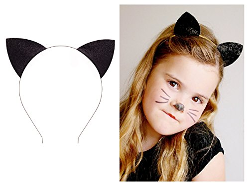 Tpocean Bandeau sexy avec oreilles de lapin et chat pour femme ou fille Idéal pour le quotidien ou le cosplay Noir