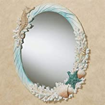Touch of Class Coral Medley Oval Wall Mirror Multi Earth