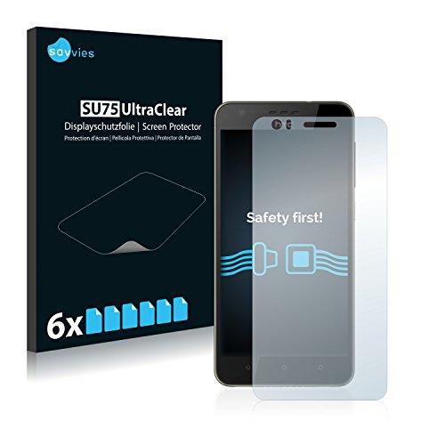 Savvies 6X Schutzfolie kompatibel mit HTC Desire 10 Lifestyle Bildschirmschutz-Folie Ultra-transparent