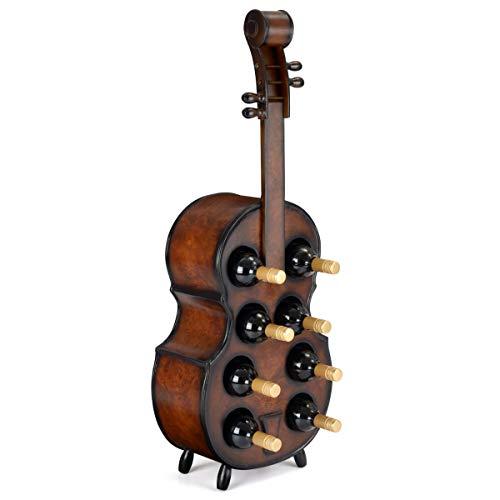 Holz Weinregal aus Holz Violine Flaschenhalter Hält 8 Flaschen Christow Möbel