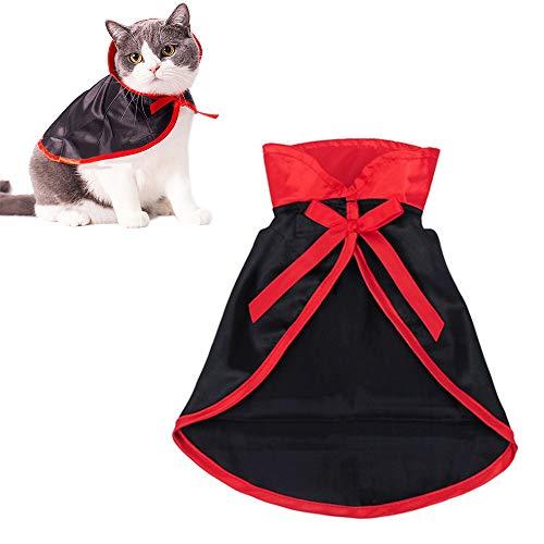 Lifreer Capa de Halloween para mascotas, disfraz de vampiro, disfraz de Halloween para gatos pequeños y perros, decoración de fiesta