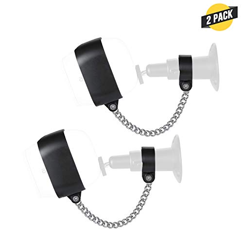 Wasserstein Anti-Theft Security Chain Compatible with Arlo Pro and Arlo Pro 2 - Extra Security for Your Arlo Camera (2-Pack, Black)