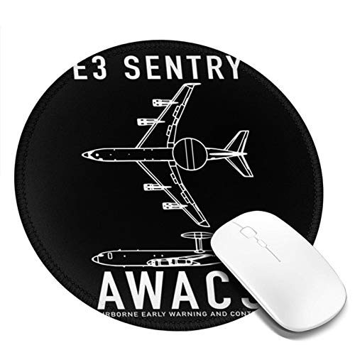 GUSCCI Round Mouse pad Sentry AWACS Cute Desk Accessories Waterproof Mouse pad 7.9x7.9 inch 1 PCS