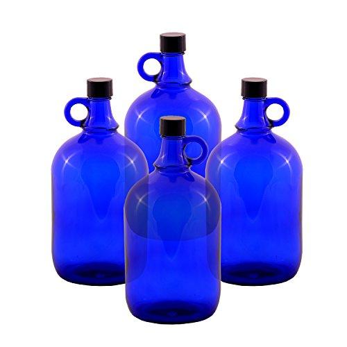 LGL Haushaltswaren GmbH Glasballonflasche/BLAU/Gallone / 2 Liter oder 5 Liter (4 x 2 Liter)