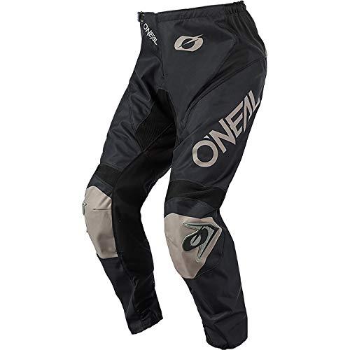 O'NEAL | Motocross-Hose | MX Enduro | Maximale Bewegungsfreiheit, Atmungsaktives & langlebiges Design, Luftdurchlässiges Innenfutter | Pants Matrix Ridewear | Erwachsene | Schwarz Grau | Größe 36/52