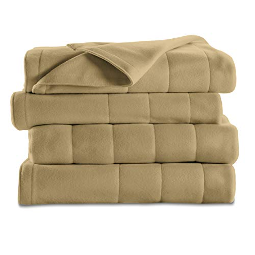 Sunbeam Heated Blanket | 10 Heat Settings, Quilted Fleece,...