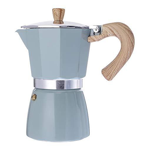 GU YONG TAO Cafetière à Espresso en Aluminium Classique - Cafetière à Moka de 6 Tasses, Facile à Utiliser, Pot de Nettoyage Rapide pour Cappuccino ou Latte à l'espresso Italien