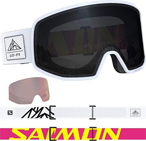 Salomon Lo Fi Bk & White +1 Lens Snow Goggles - One Size Fits All