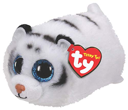 Ty- Tundra Tiger Peluche, Color Blanco (42151)