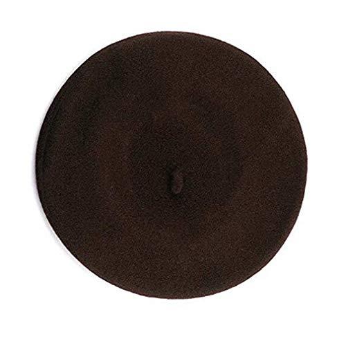 Yaheetech Mode Frauen Beret, TheBigThumb Französisch Style Winter Cap Casual Classic Einfarbig Wolle Mütze Hut für Frauen Damen Mädchen, Braun