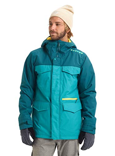 Burton Mens Covert Jacket, Green-Blue Slate/Deep Teal, X-Small