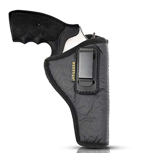 """IWB Revolver Holster by Houston - ECO Leather Concealed Carry Soft Material 