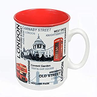 Sterling Product EMM003 Premium Quality Embossed Printed 300 ml Coffee Mug, Ceramic, 300 milliliters, Black