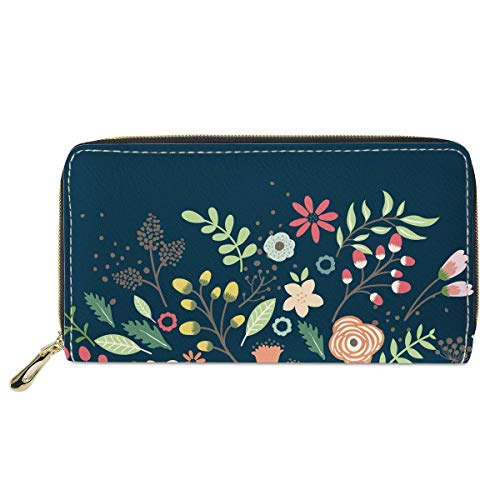 Mumeson Boho Style Women Travel Wallet Long Coin Purse Clutch Cell Phone Case, Floral-cc4043, One Size