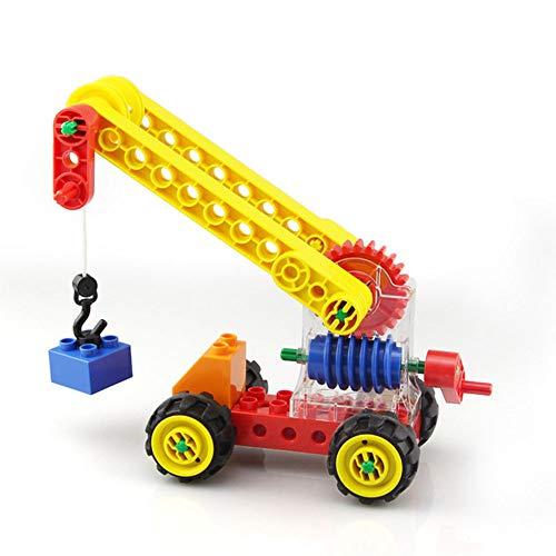 LHTY Kinder Simulation Lernspielzeug Set, Turbine Engineering Crane Assembled Architecture Stapeln Lernspielzeug, Intelligenz Aktivität Spielzeug