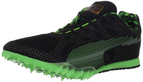 PUMA Bolt Evospeed mid dist-u, Black/Fluorescent Green, 13 D US