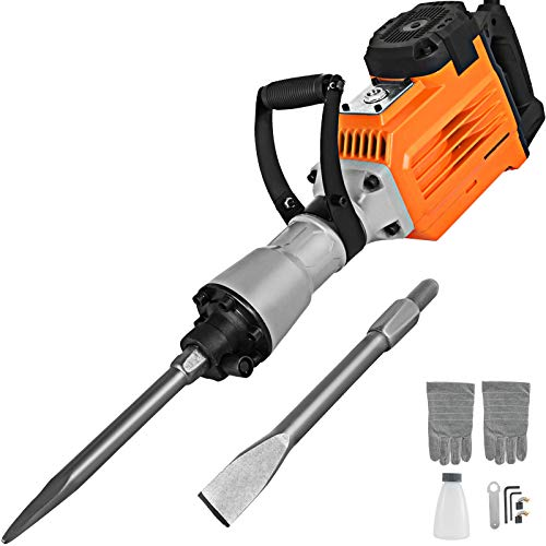 Mophorn 3600W Electric Demolition Hammer Heavy Duty Concrete Breaker 1800 RPM Jack Hammer Demolition...