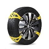 Yhtech. Catene da neve 8PCS Auto Car Tyre Anti-Slip Neve catena del cavo di trazione a catena Catene di fango pneumatici for pneumatici Larghezza 155-285mm
