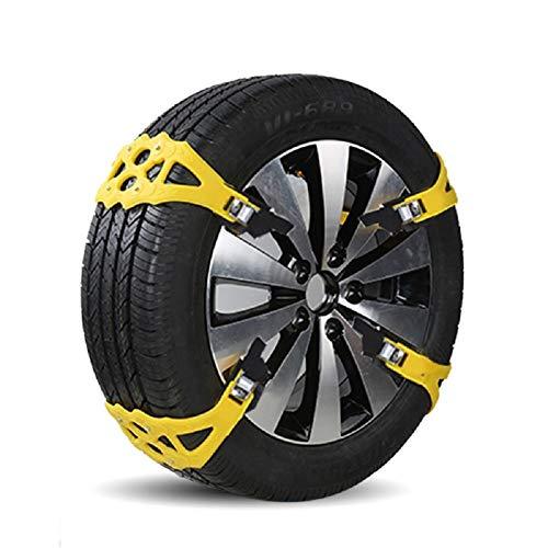 YHtech Cadenas de Nieve 8PCS Coche del neumático del Coche Antideslizante Cadena de Nieve por Cable de tracción de la Cadena Cadenas de Neumáticos de Barro for Tiro Ancho 155-285mm