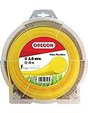 Oregon 69-350-Y Fil rond pour débroussailleuse et débroussailleuse Jaune, 69-387-Y