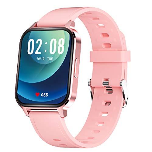 TWW Smart Watch Für Männer, Frauen, Fitness-Tracker-Telefone, wasserdichte Sportuhr IP68 Zum Zoomen Über Das Bild Rollen,Rosa