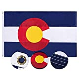 FLAGBURG Colorado State Flag 3x5 FT, Long Lasting CO Flag with Heavy Duty Embroidered, Brass Grommets, Vibrant Color, UV Fade Resistant, High-Grade The Centennial State Flags for All-Weather