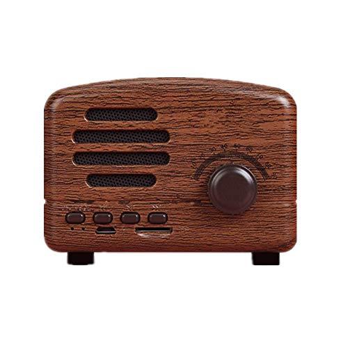Local Makes A Comeback - Altavoz Bluetooth Retro, Radio Inteligente Inalámbrica, Bajo, Tarjeta de Audio, Mini Regalo Creativo, Madera