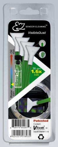 Visible Dust VT70056 Kit EZ Sensor Cleaning Sensor clean con 4 tamponi Ultra MXD-100 per 20 mm (APS-C), Verde