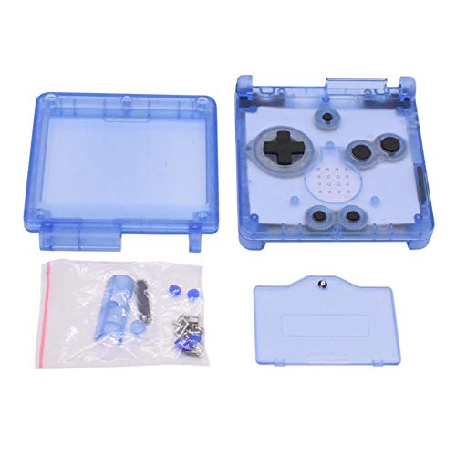 Meijunter Replacement Housing Shell Case for Gameboy Advance SP GBA SP Console(Transparent Clear Blue)