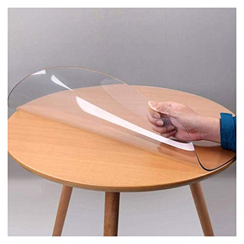 Mantel Transparente Protector De Mesa De Plástico Transparente, Protector De Cubierta De Mesa Redonda De PVC Impermeable Adecuado para Sala De Estar, Comedor (Size : 2mmx90)