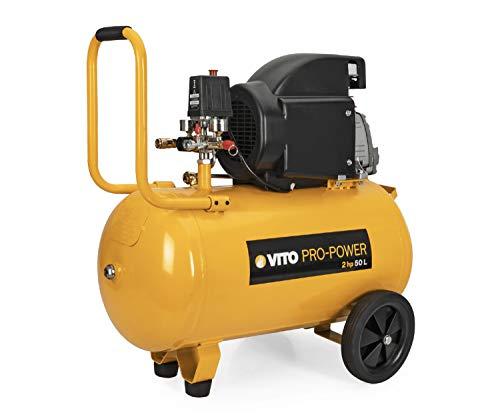 Compresor High Wind 50 Vito Pro-Power aceite | Potencia 2hp / 1,5 kW | Velocidad Rotación 2850 rpm | Capacidad 50L