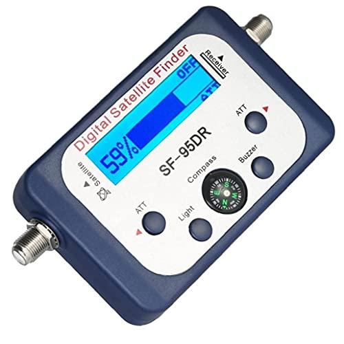 Buscador de satélites digital, medidor de señal satelital SF-95DR Mini medidor de búsqueda de señal de satélite digital con pantalla LCD Satfinder digital con brújula 1pc