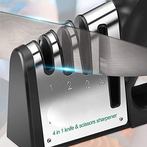 FEE-ZC Smart Küchenmesserschärfer, Vier-in-einem-Messer-Schärfer Home Küchenmesser Spezielle schnelle Küche Nicht automatischer hochpräziser Messerschärfer