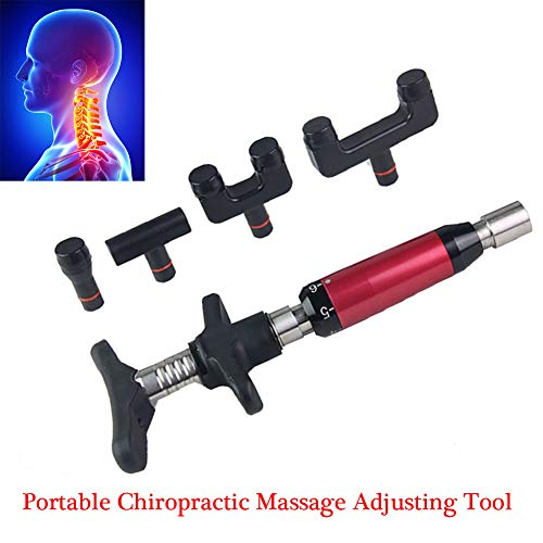New SWGN 4 Head Chiropractic Adjustment Tool, 6 Level Back Chiropractic Correction Massager for Back...