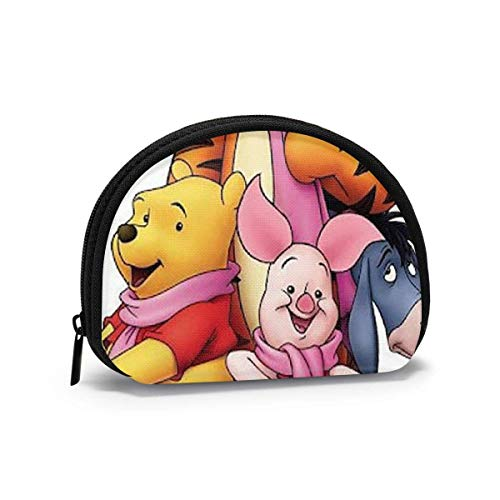 Coin Purse Change Wallet, Winnie The Pooh Coin Pouch Portable Shell Storage Bag for Women Girls